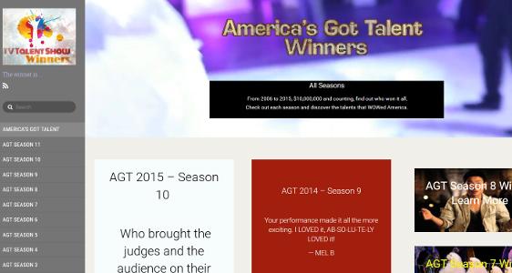 TV Talent Show Winners